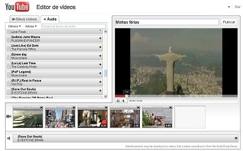 Áudio: YouTube fornece músicas para trilha sonora
