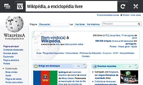 Navegação: Firefox é o navegador padrão do N900.