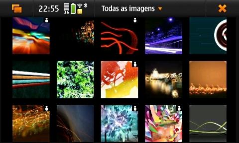 Imagens: galeria organiza as fotos em diferentes pastas.