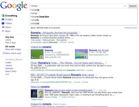 Google Instant: resultados sem clique no botão de busca