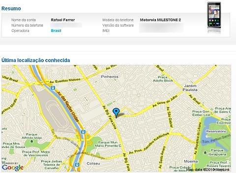 Usu�rio pode rastrear o smartphone por meio do site da fabricante
