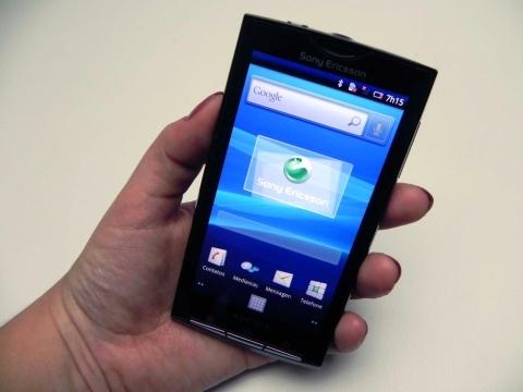 Xperia X10: com Android versão 2.1
