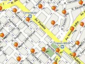 Imobilien mapa imóveis paulista