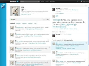 twitter layout interface