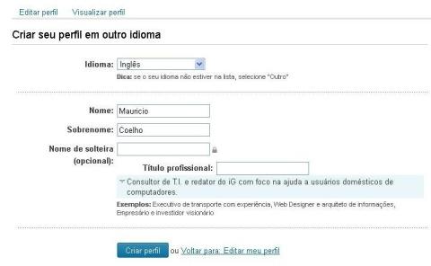 Use perfis em idiomas diferentes no LinkedIn