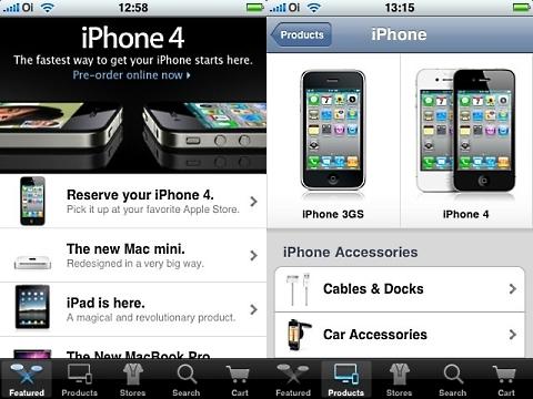 Apple Store: disponível em aplicativo para iPhone e iPod.