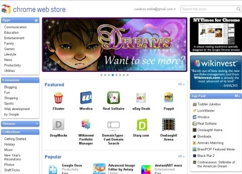 Chrome Web Store: aplicativos que rodam no navegador