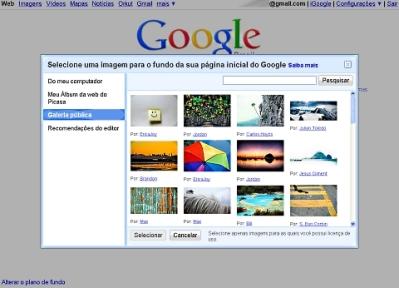 Google: buscador pode ser personalizado.