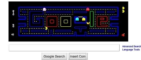 Pac-man: jogo ganhou página exclusiva no Google